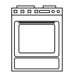 Gas stove icon outline style vector