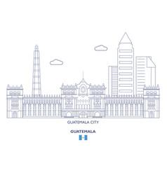 Guatemala city skyline vector