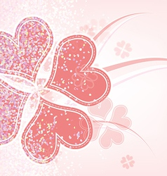 heart flower background design vector image vector image