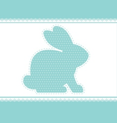 lace rabbit vector image vector image