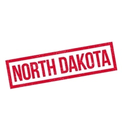 North dakota rubber stamp vector