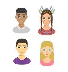 People nationality race vector