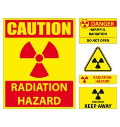 Radiation hazard signs vector image vector image