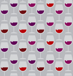 Restaurant wine bar seamless pattern with red wine vector