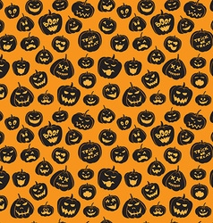 Seamless pattern Of Vintage Happy Halloween vector image