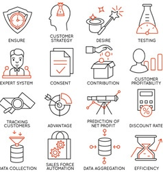 Set of icons related to business management - 17 vector image