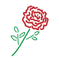 single rose color sign 209 vector image