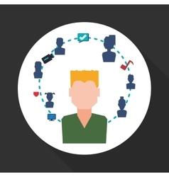 Social network design social media icon isolated vector