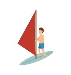 Surfer man cartoon vector