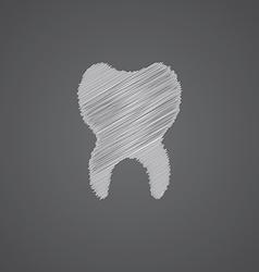 Tooth sketch logo doodle icon vector