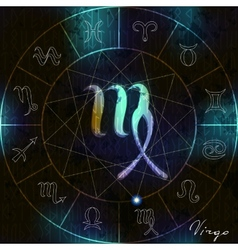 Virgo symbol of astrological vector