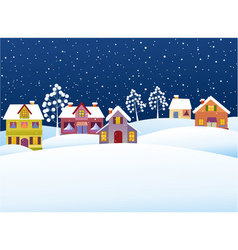 Winter rural landscape vector image vector image