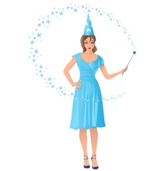 wizard girl vector image