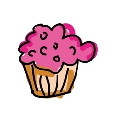 Muffin sweet dessert vector