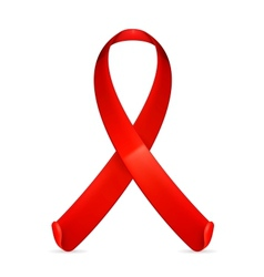 Aids red ribbon vector