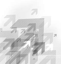 Abstract grey background with many arrows vector image