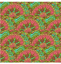 Colorful doodle ornament seamless pattern vector