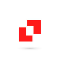 Abstract logo icon with letter l design template vector