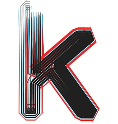 Abstract font letter k vector