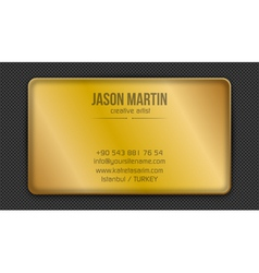 Golden creative business card vector
