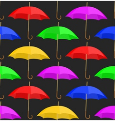 seamless a background with umbrellas vector image