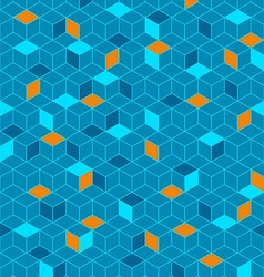 Abstract seamless cubes vector image