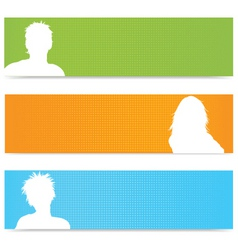 people avatar banners vector image