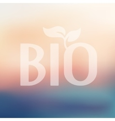 Bio sign icon on blurred background vector