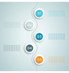 Number steps infographic 6 vector
