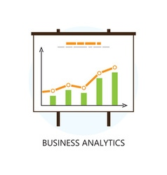 Flat colored statistics and analytics icon vector