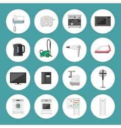 Household appliance icons vector