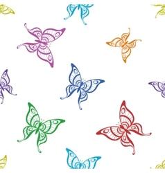background butterflies vector image