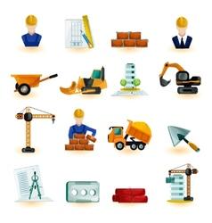 Architect icons set vector