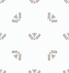 Boho chic seamless pattern vector