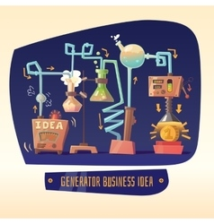 Business infographics on the topic of ideas and vector