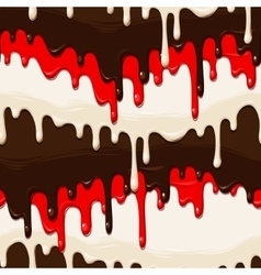 Chocolate and glaze seamless vector image vector image