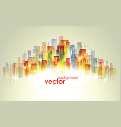 Colorful city skyline vector