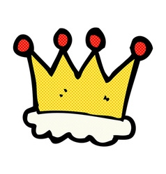 Comic cartoon crown symbol vector