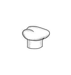 Cook hat drawn hat chef cook hat chef-cooker vector