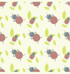 Cute insects seamless pattern beautiful art vector