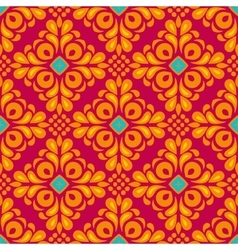 Damask floral tiled seamless pattern vector image