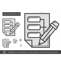 Data architecture line icon vector
