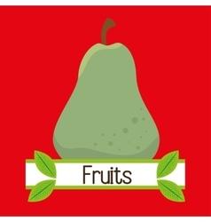 fruit fresh food icon vector image