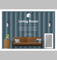 Living room interior background 2 vector