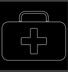 Medical case the white path icon vector