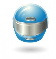 motorcycle helmet illustration vector image vector image