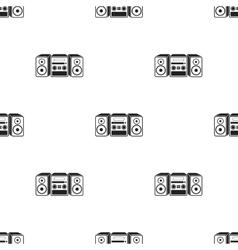 Music center icon in black style isolated on white vector image