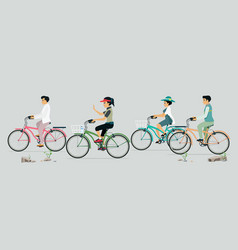 people love cycling vector image vector image