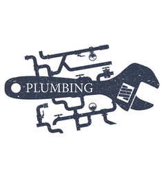 plumbing and repair of water supply vector image