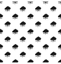 Rain with thunderstorm pattern simple style vector